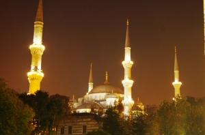 Centre d'Istanbul la nuit