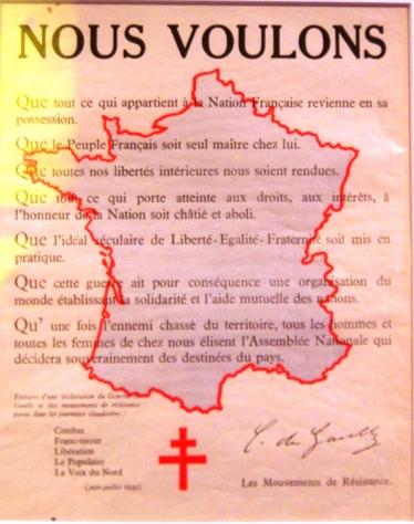 carte France de Gaulle
