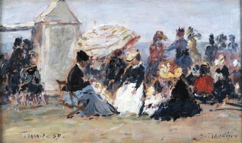 1 Boudin Scene de plage a Trouville