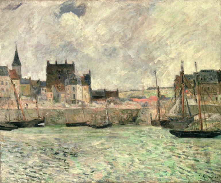 Harbour Scene, Dieppe, c.1881-85 (oil on canvas)