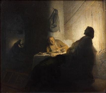 4-Rembrandt_Le Repas des Pe¦Çlerins -® Paris, muse¦üe Jacquemart-Andre¦ü - Institut de France - Studio Se¦übert Photographes.jpg