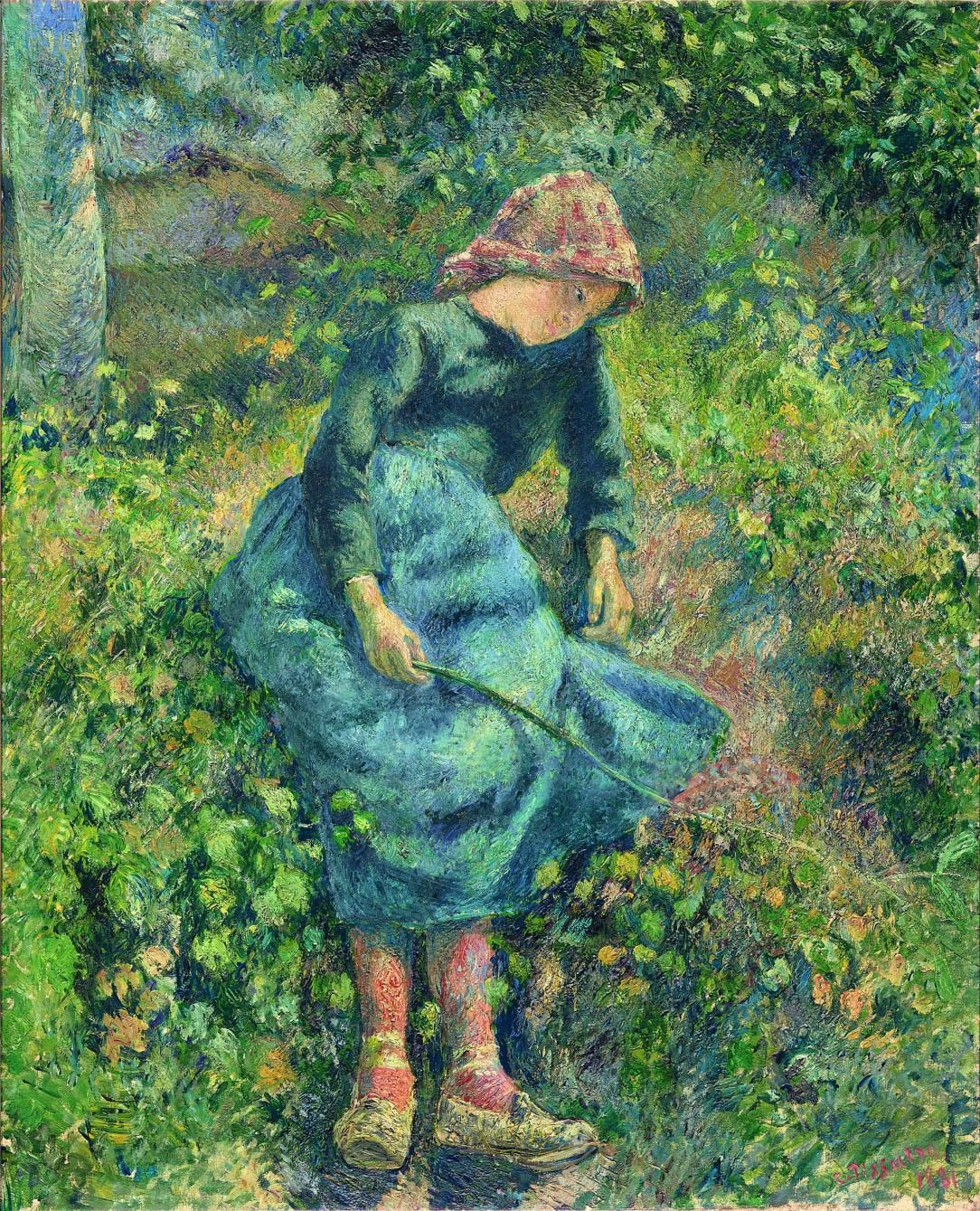La bergËre, dit aussi Jeune fille ‡ la baguette ; paysanne assise