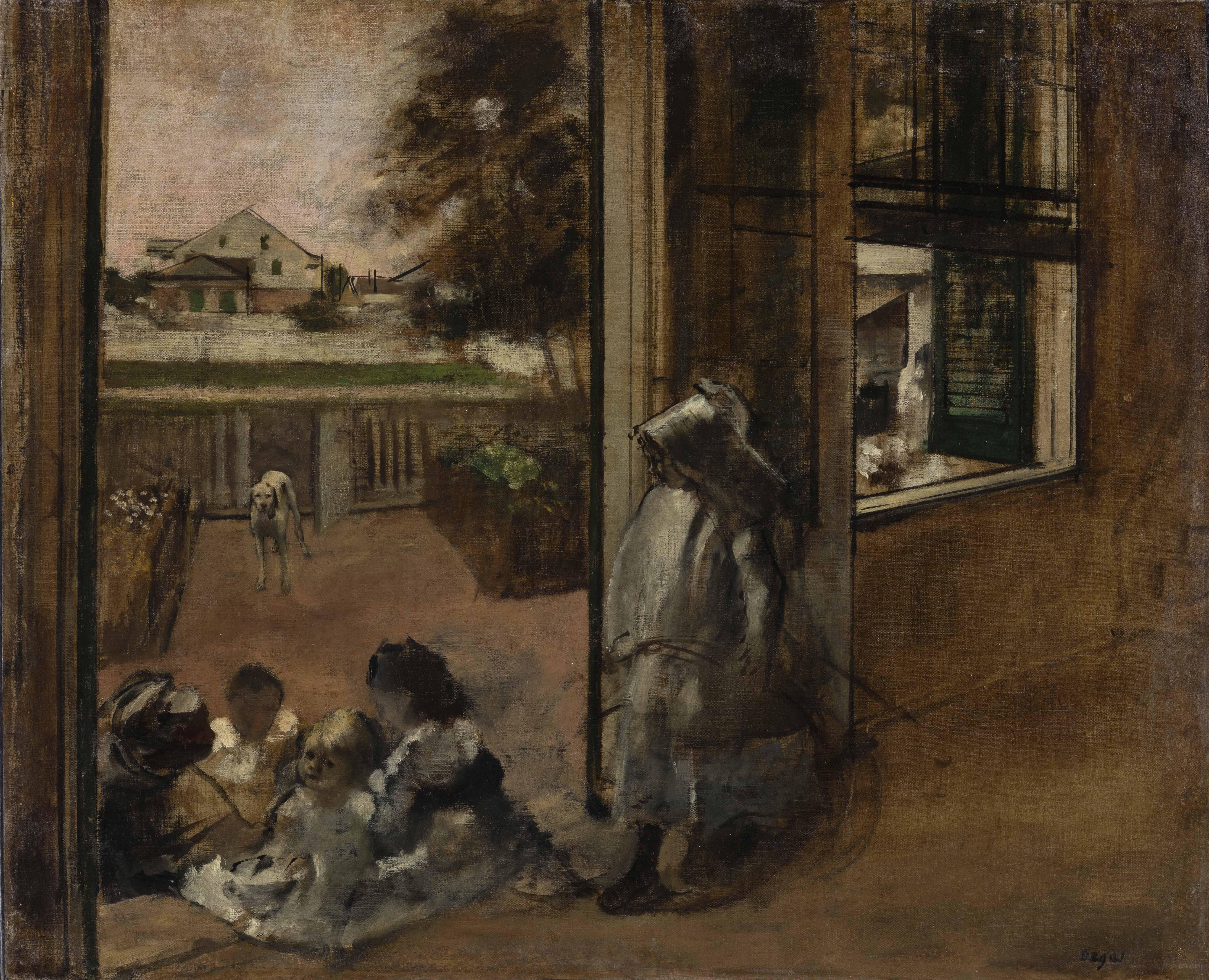 Degas cour maison nouvelle orleans1873 Inv238 WH