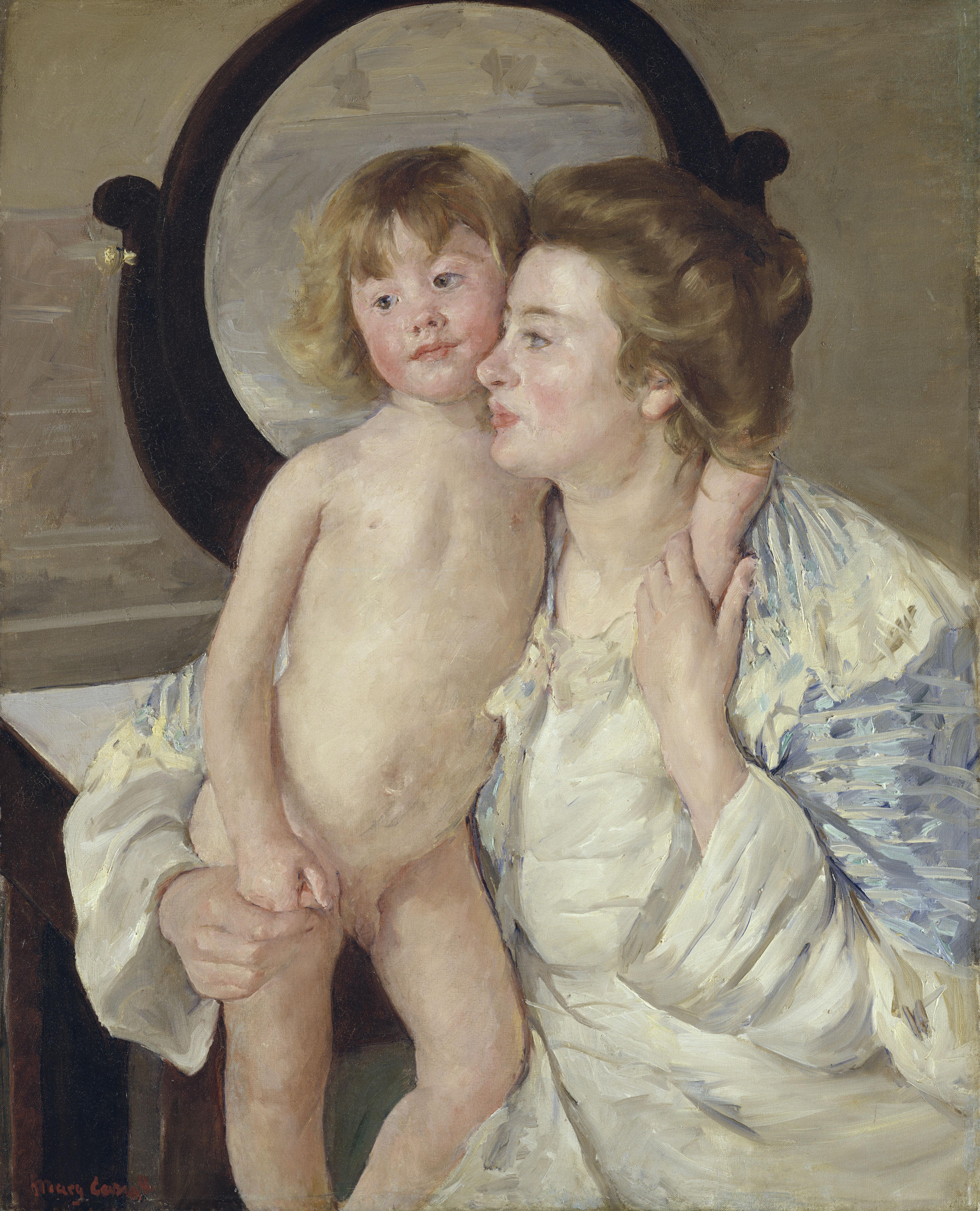 Mère et enfant (le miroir ovale)