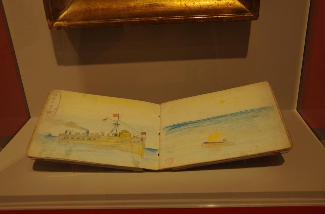 Bateau dessiné par Foujita à 6 ans