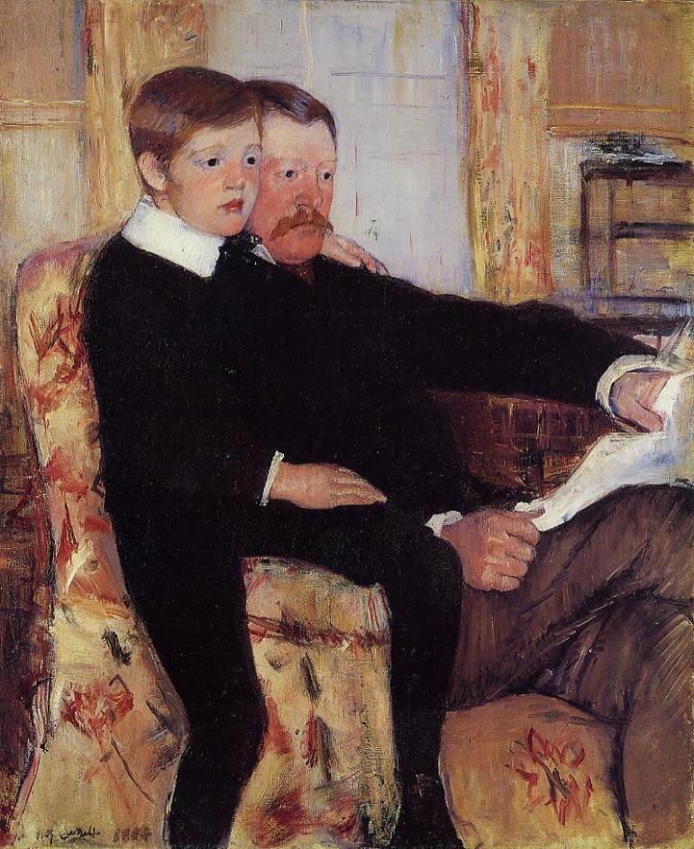 portrait-dalexander-cassatt-et-son-fils-mary-cassatt