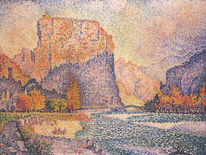 Paul Signac - Castellane - 1902 - 1enviedailleurs.com