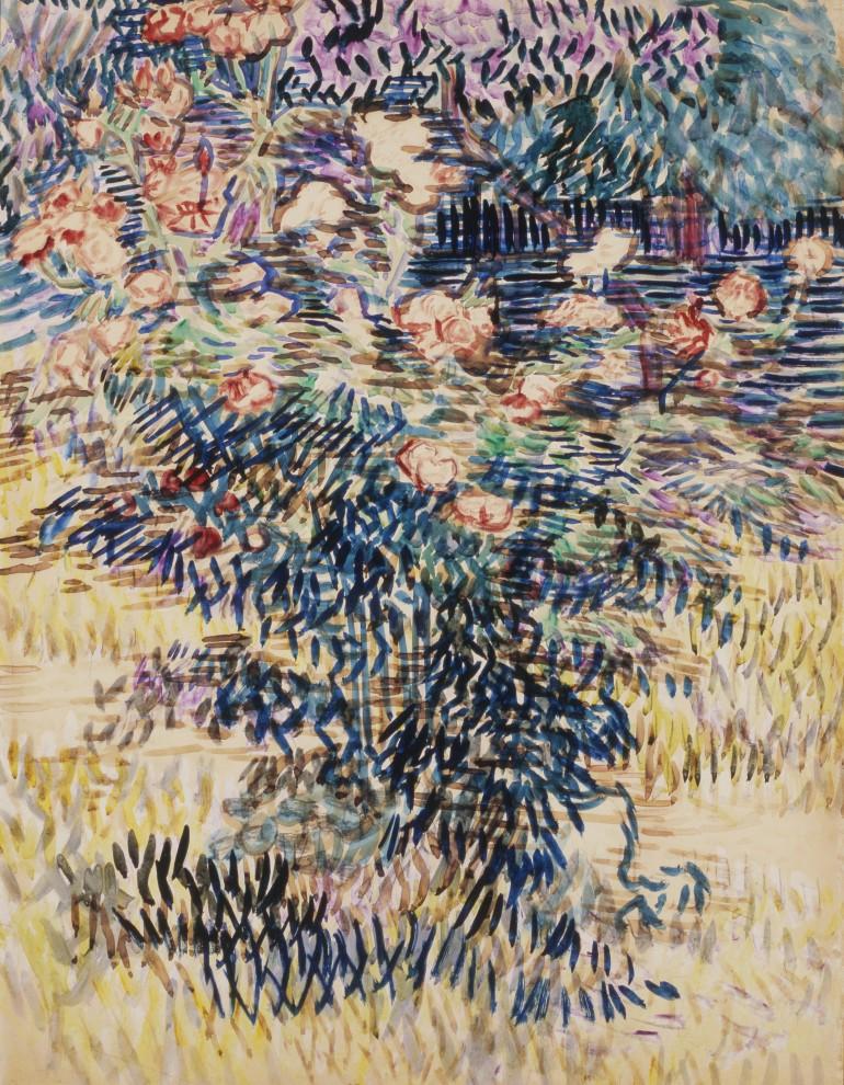 Van Gogh: Les lauriers roses. le jardin à l'hôpital à Saint Rémy - 1enviedailleurs.com