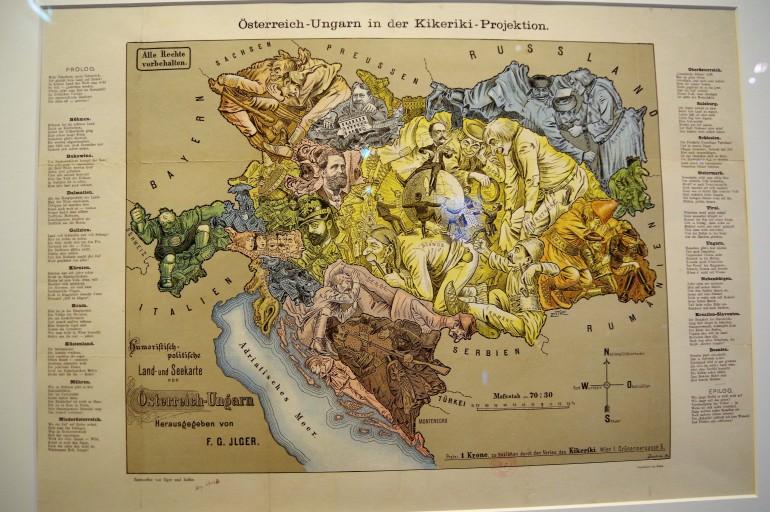 carte satirique Autriche Hongrie